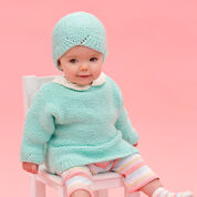Go to Product: Red Heart Camilla Babe Sweater & Hat, 6 mos in color