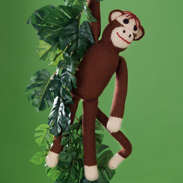 Caron Sock Monkey Toy in color