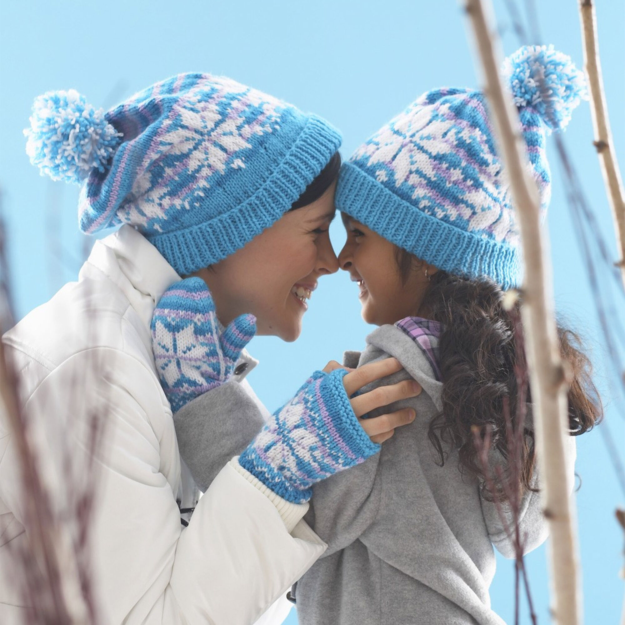 Patons Snowflake Hat and Mittens Set, Mittens - Kids 2-4 ...