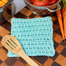 Red Heart Lattice Washcloth in color