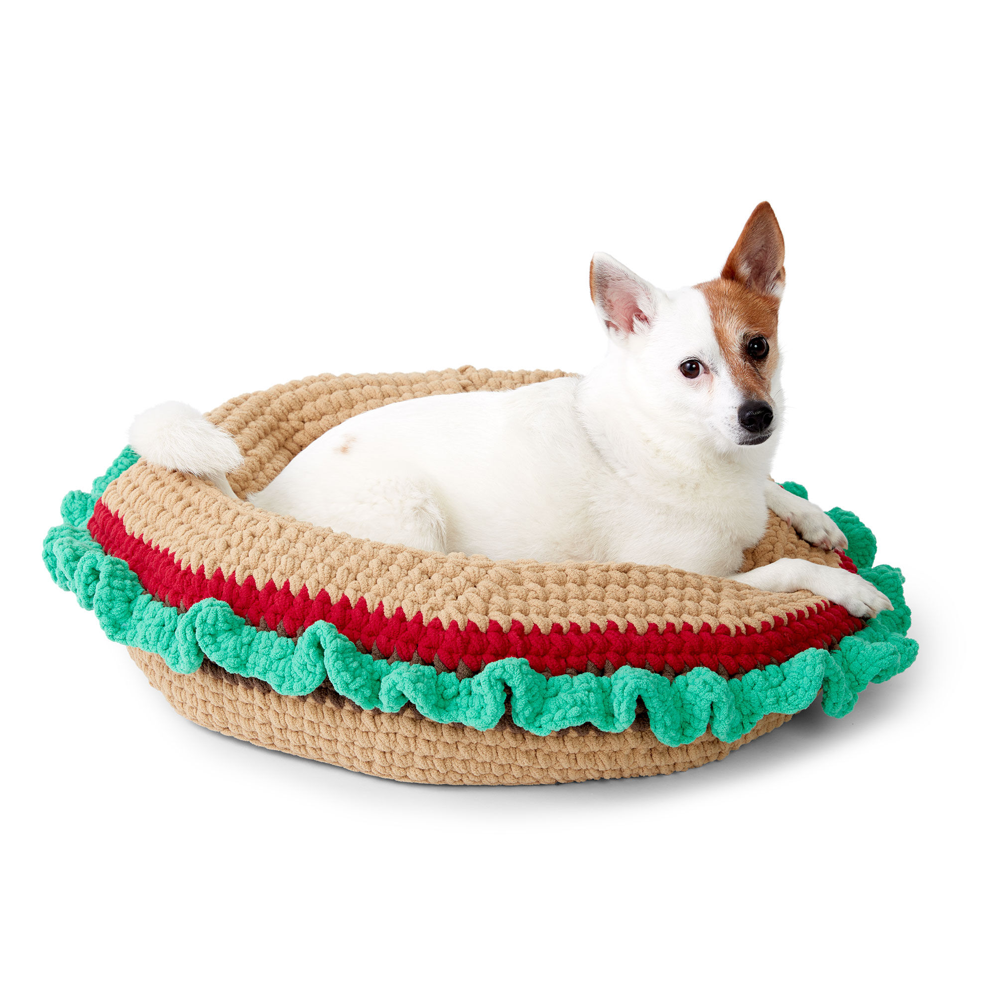 Bernat Crochet Burger Pet Bed Pattern Yarnspirations