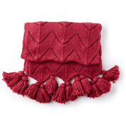 Go to Product: Bernat Horseshoe Lace Tasseled Knit Blanket in color