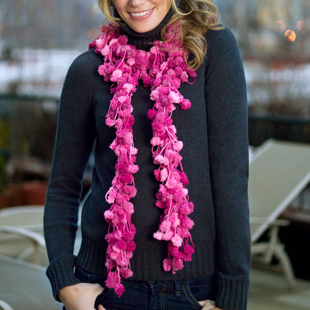 Red Heart Loopy Scarf in color