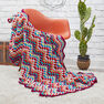 Red Heart Throw-back Granny Chevron in color