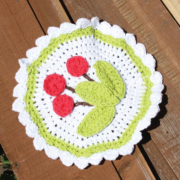 Lily Sugar'n Cream Cherry Dishcloth