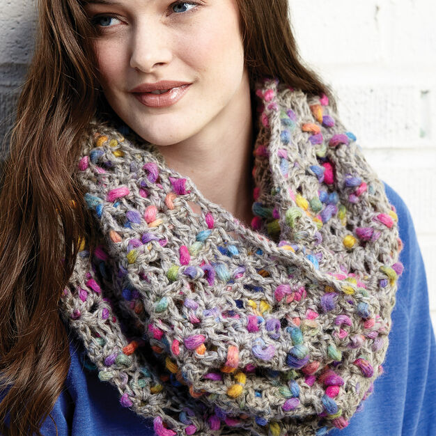 Patons Shell Collection Cowl in color