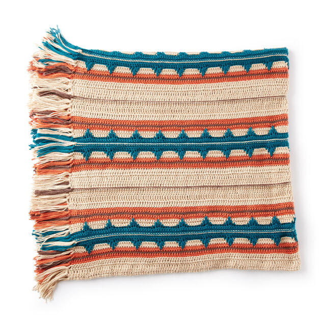 Caron Southwest Stripe Crochet Blanket Pattern Yarnspirations