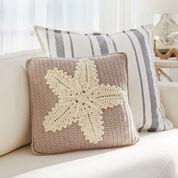 Red Heart Crochet Starfish Pillow