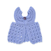 Bernat Flutter-Bye Baby Vest, 6 mos