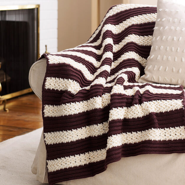 Bernat Herringbone Afghan in color