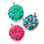 Lily Sugar'n Cream Nubby Crochet Scrubber, Hot Pink
