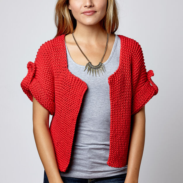 Bernat Side Street Cardigan, XS/S in color