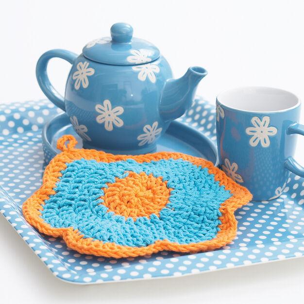 Bernat Primrose Dishcloth in color