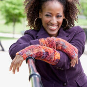 Red Heart Diva Driving Arm Warmers, S/M