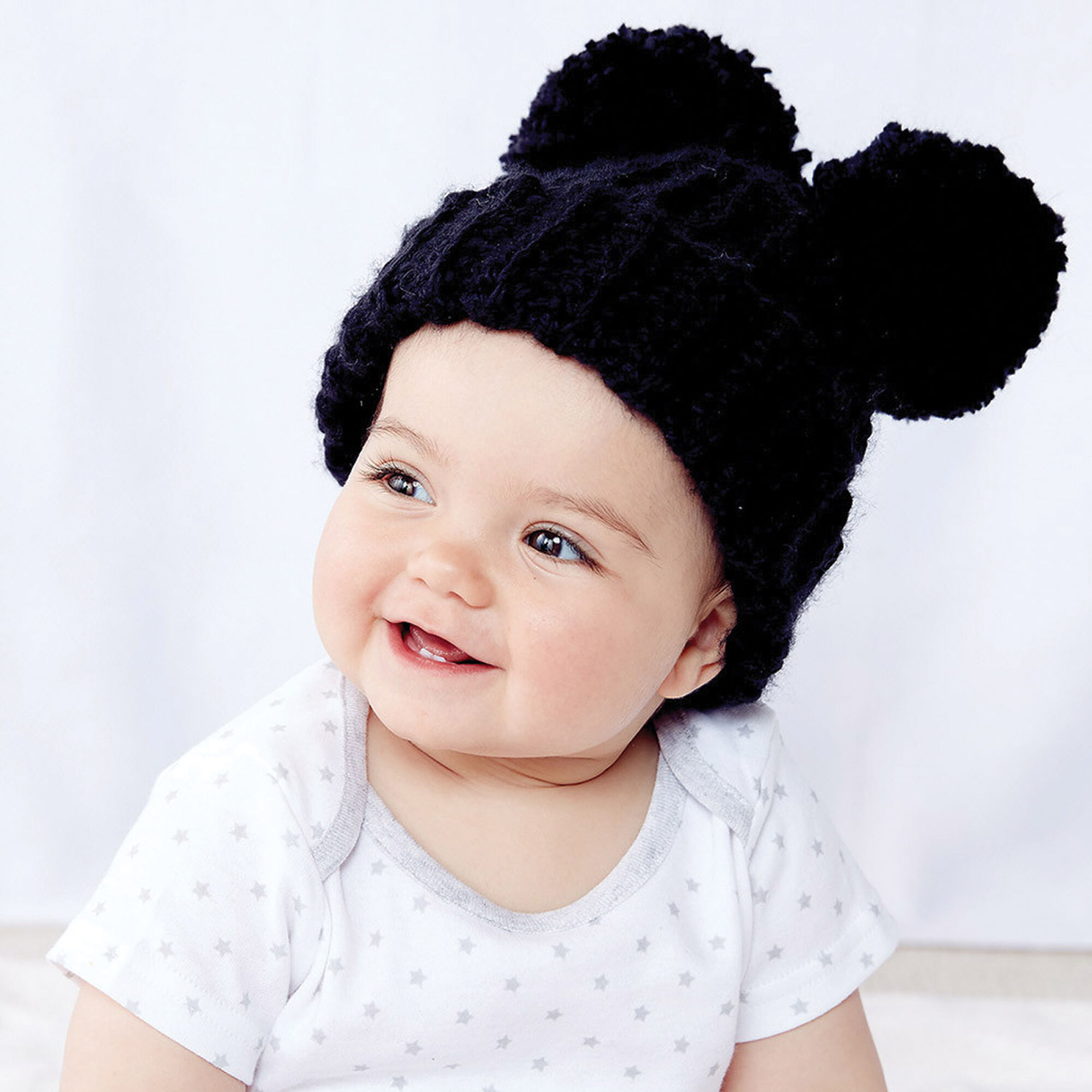 Bernat Adorable Pompom Crochet Hat Version 1 6 12 Mos