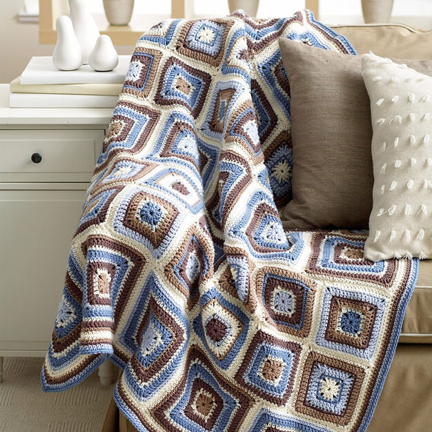 Bernat Deco Blocks Blanket