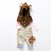 Bernat Hooded Knit Bear Cowl, 6-12 mos