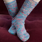Red Heart Colorful Lace Socks, S