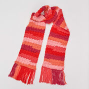 Red Heart Snazzy Striped Scarf