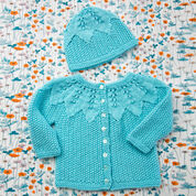 Go to Product: Red Heart Star Bright Baby Cardigan and Hat, 3 mos in color