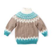Bernat Knit Fair Isle Yoke Sweater, 4