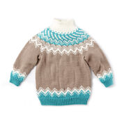 Bernat Knit Fair Isle Yoke Sweater, 4