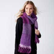 Caron Knit Herringbone Texture Scarf