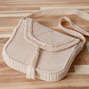 Red Heart Crochet Cross Body Bag