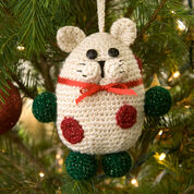 Red Heart Kitty Ornament