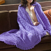Red Heart Lavender & Lace Throw