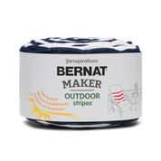 Go to Product: Bernat Maker Outdoor Stripes Yarn, Fresh Navy Stripe - Clearance Shades* in color Fresh Navy Stripe