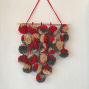 Red Heart Pompom Wall Hanging