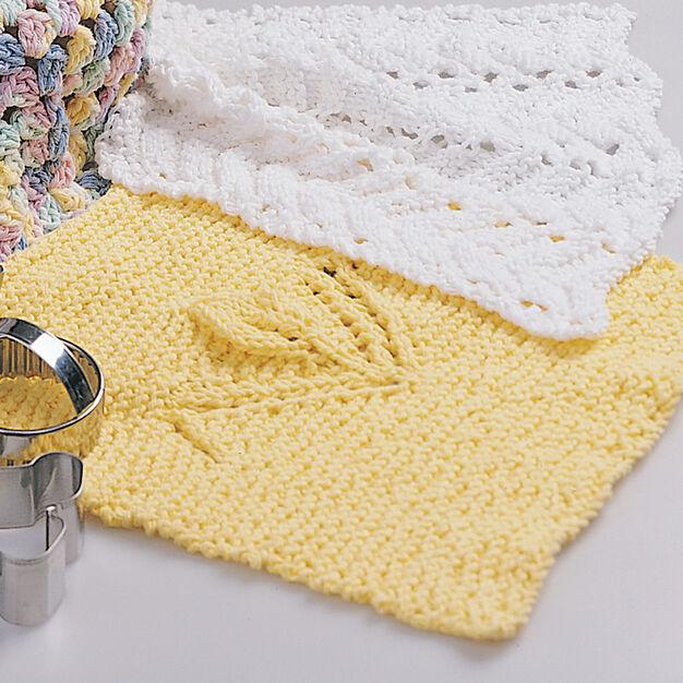 Lily Sugar'n Cream Tulip Bud Dishcloth