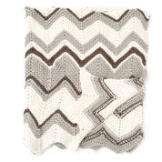 Bernat Zig-Zag Blanket, City Mouse
