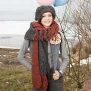 Go to Product: Red Heart Fringed Hat and Scarf in color