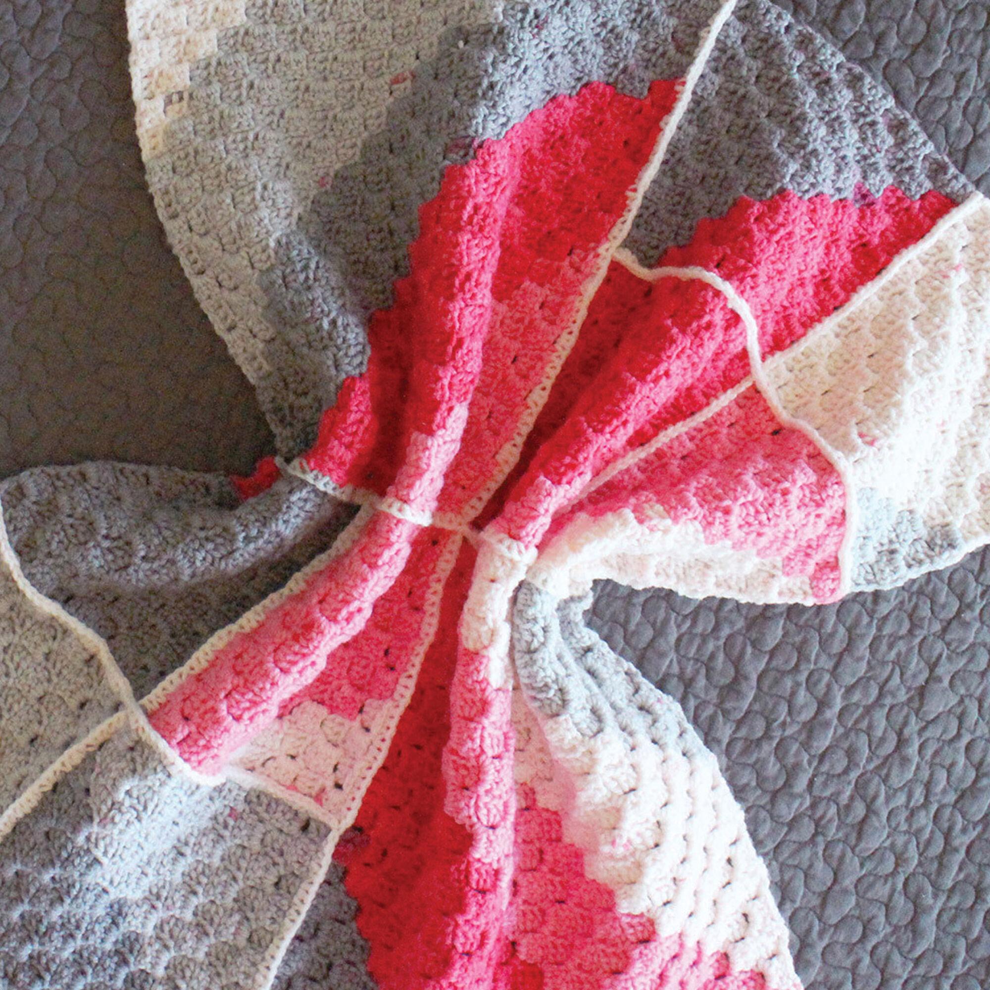 Bernat Geometric Crochet Baby Blanket | Yarnspirations