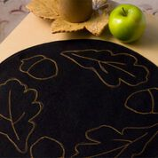 Dual Duty Autumn Leaves Candle Mat