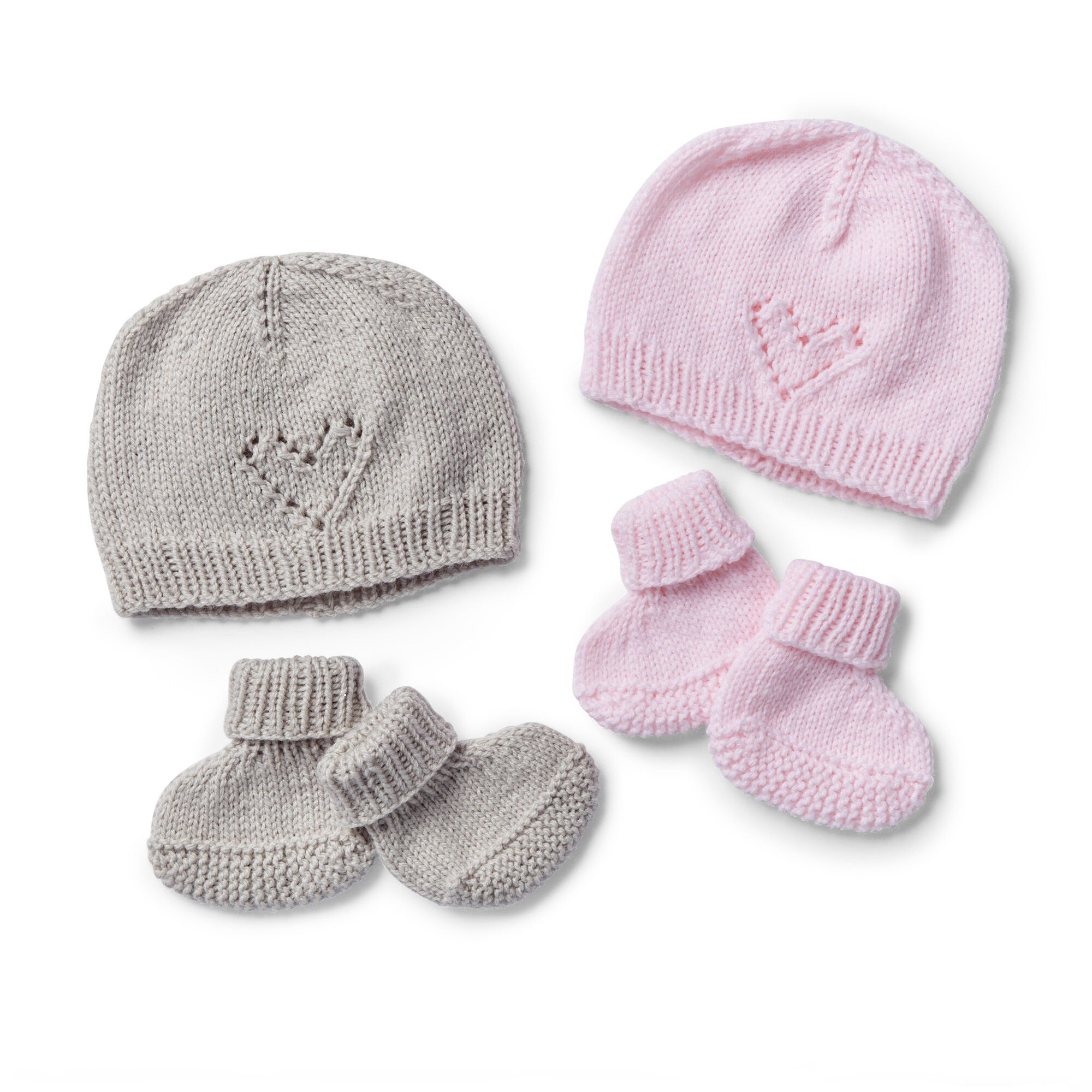 Bernat Cutie Booties And Cap To Knit Pattern Yarnspirations