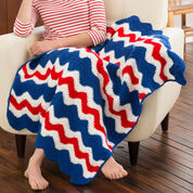 Go to Product: Red Heart America's Ripple Throw in color