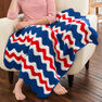 Red Heart America's Ripple Throw in color  Thumbnail Main Image 1}