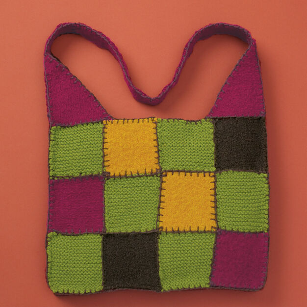 Patons Felted & Knit Patchwork Bag