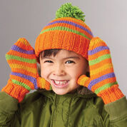 Go to Product: Patons Striped Basic Hat & Mittens, Light Blue - Kids 2/4 yrs in color