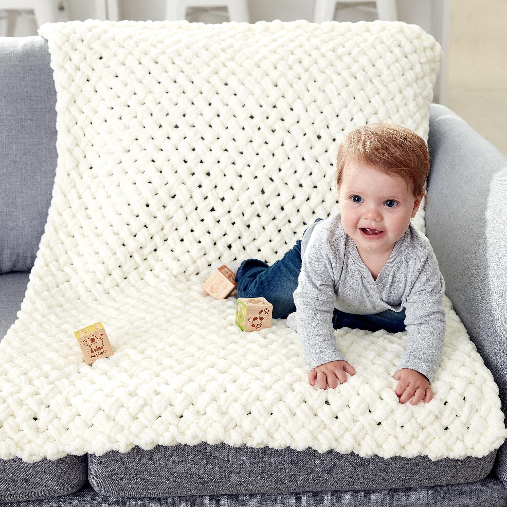 Bernat Alize Ez Criss Cross Baby Blanket Pattern