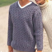Patons Casual Cables Sweater, Decor - S