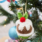 Red Heart Christmas Pudding Ornament