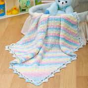 Red Heart Diamond Blanket for Baby