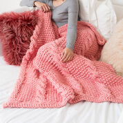 Red Heart Big Cables Throw