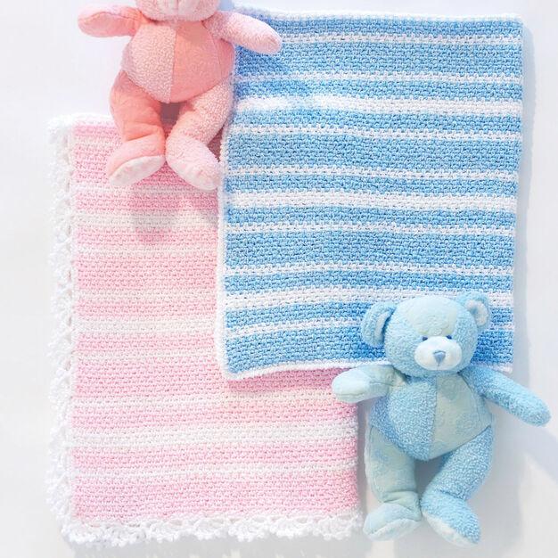 Bernat Sweet Baby Blanket, Boys in color