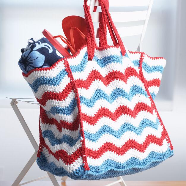 Lily Sugar'n Cream 4th of July Beach Bag, Summer Beach Bag Stitch-Along in color