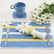 Lily Sugar'n Cream Daisy Table Setting, Napkin Rings
